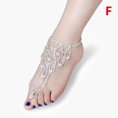 Item Type: AnkletsFine or Fashion: FashionStyle: TrendyGender: WomenLength: fits allMetals Type: Silver AlloyMaterial: none * For use as Nude Shoes, Foot Decora Feet Jewelry, Beach Foot Jewelry, Anklet Jewelry, Kids Jewelry, Bling Jewelry, Anklets, Women Jewelry, Foot Bracelet, Slave Bracelet