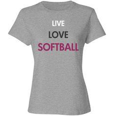 Live love softball | Custom softball tee shirt.