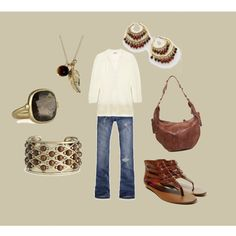 Casual Chic -I don't like the gold jewelry, but the outfit is cool.
