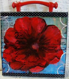 so pretty... Poppy LoveMixed Media Collage by dianeskeepsakes on Etsy, $25.00