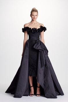 cb0f3ae842d6b MARCHESA COUTURE BLACK OFF SHOULDER CORDED LACE MIDI TEA DRESS WITH  OVERSKIRT.  marchesa
