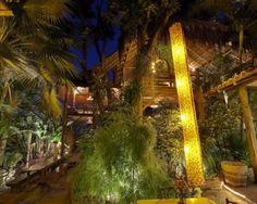 Aprazivel, Rio de Janeiro. Akin to eating in a tree house up in the hills of Santa Teresa.
