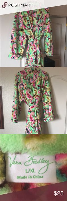 Like new Vera Bradley plush robe Vera Bradley robe.  Very good condition.  I received this a a gift, but I have had it on twice.    Each time I had it on was for less than 15 minutes.  Very nice, I'm just not a robe person. Vera Bradley Intimates & Sleepwear Robes