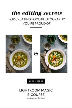 Learn Lightroom for Food Photography with Rachel Korinek, professional food photographer. Food Photography Styling, Food Styling, Hobby Photography, Photography Editing, Product Photography, Photography Tutorials, Styling Tips, Photography Ideas, Mandarin And Almond Cake