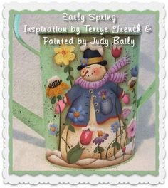 Painting With Friends E Pattern - Early Spring - Painted by Judy Bailey