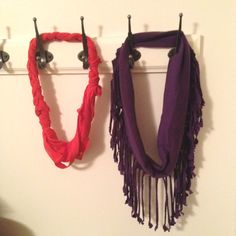 DYI t-shirt scarves :)