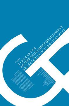 Typeface Posters by Ashley Stillson, via Behance