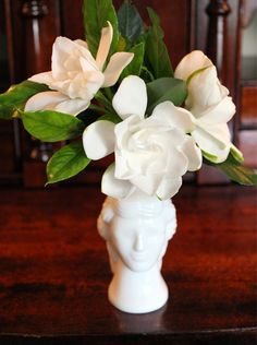 Adventures in antiquing: Avon perfume bottle filled with gardenias