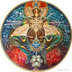 Cosmic Mother Birthing Rainbow Body by Melissa Shemanna