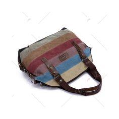 Fashion Buckle and Striped Design Women s Shoulder Bag