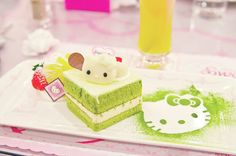 Kawaii desserts and snacks Hello Kitty, Green Tea Cake