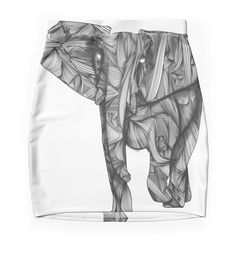 """""""African Elephant"""" Pencil Skirts by Ben Geiger 