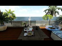 modern beach house with Lumion & Sketchup