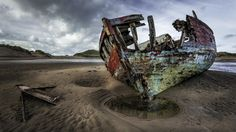 Boat wreck crow point by Roy Anderson on 500px