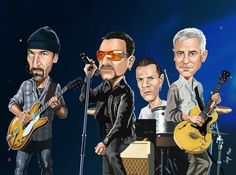 Cartoon Bands and Celebrities on Pinterest | Caricatures, Beatles ...