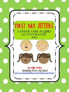 First Day Jitters Activities for K-2nd Grade {Common Core teaching classroom management