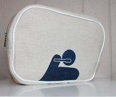 Hand Made Screen Printed Toiletry Bag / Travel Bag / Bathroom Bag on Etsy, $30.00 CAD
