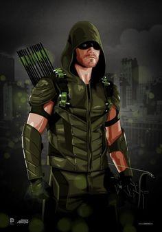 Green Arrow Stephen Amell by Brian C. Arrow Cw, Arrow Oliver, Team Arrow, Green Arrow, Heros Comics, Dc Comics Superheroes, Dc Heroes, Marvel Comics, Arrow Black Canary