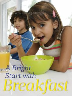 A Bright Start with Breakfast - Grown Ups Magazine - Discover the health benefits of a delicious and nutritious morning meal.