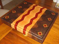 End+Grain+Cutting+Board+Patterns   Cutting Board, Diamond and Zig Zag pattern, End Grain Up