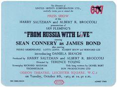 50 Years of James Bond on Film @ Vanity Fair