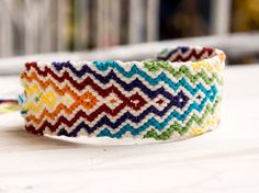 Rainbow Friendship Bracelet ,Jewelry  ,Bracelet  ,Fiber  ,woven  ,macrame  ,friendship Bracelet  ,hippie  ,colorful ,native, rainbow