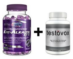 Amazon.com: Kre-Alkalyn (240 Capsules) & Testovox (60 capsules) - High Performance Muscle Building Combo. Professional Strength Bodybuilding Supplement Stack: Health & Personal Care
