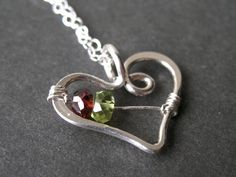 Custom mothers family birthstone necklace