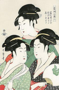 喜多川歌麿  当時三美人