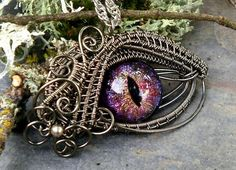 Woven Wire Evil Eye Jewelry by Twisted Sister Arts ~ The Beading Gem's Journal
