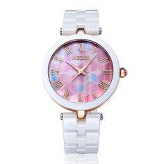 KEZZI Brand Fashion Watches Quartz Ceramic Wristwatch Colorful Shining Watch Dial Lady Dress Watch Waterproof Casual Watches