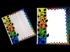 Easy border design for project File Decoration Ideas, Page Decoration, Boarder Designs, Page Borders Design, Handmade File Covers Designs, Project Cover Page, Front Page Design, Notebook Cover Design, Doodle Frames