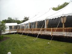 elevated tent with flooring