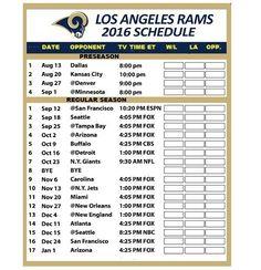 Large 2017 Nfl Complete Week By Week Football Schedule Magnet No