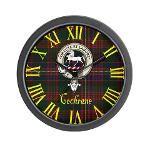 cochrane clan badge and tartan clock $19.99 #home #decor #clocks #clock #scottish #clan #crest #tartan #badge
