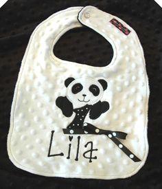 1st Birthday Personalized Panda Bear Bib or by sunshinedaydream4u, $19.95