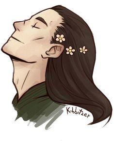 Random flowers on a random Loki by Kibbitzer on DeviantArt