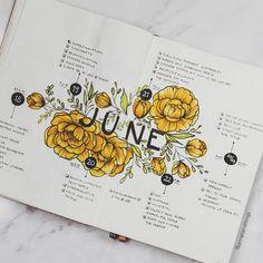 Bullet journal weekly layout, flowers drawing, rose drawings.   @jannplansthings