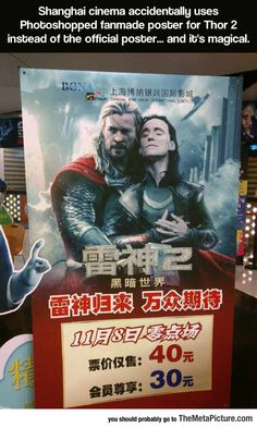 Thor Poster Can we please appreciate Thor's face....and then Loki's. Thank you.