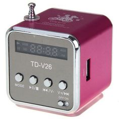 Mini+TD-V26+Speaker+USB+Sound+Box+Support+TF+/+SD+Card+++FM+Radio+++U+Disk