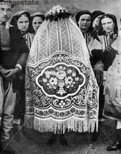 """Veiled bride, South Serbia  from """"Peoples of the World in Pictures"""", published by Odhams Press Ltd (London, 1936)"""