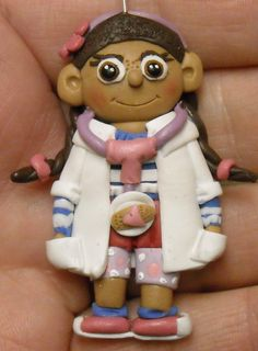 Doc McStuffins Disney inspired Polymer clay by CobaltMoonJewelry, $3.95