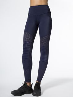 deab1ed566f59 Race Ready Moto Leggings in Navy by L'urv from Carbon38 Navy Leggings,  Workout