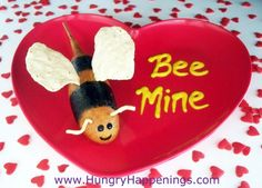Valentine's Day Boxes To Make At School. Hungry Happenings Valentines Day  QuotBee Minequot Corn Dog Bumble Bees