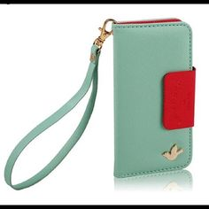 iPhone 6 plus/6s plus wallet case Wristlet New New mint green fashion wallet Wristlet Pu Leather Case for iPhone 6 Plus/6s plus Accessories Phone Cases