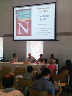 """Presentación libro """"Los dominios del español"""", de  Juan Carlos Moreno. Editorial Síntesis"""