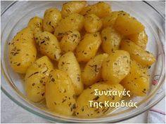 ΣΥΝΤΑΓΕΣ ΤΗΣ ΚΑΡΔΙΑΣ: Πατάτες φούρνου με μουστάρδα, μέλι και εστραγκόν