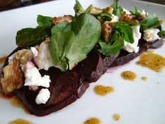 it's a beet! {roasted beet and goat cheese salad}