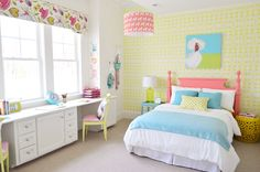 Young House Love | Paint a thrift store headboard to give it kid appeal!