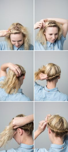 Cute crown twist tutorial. Perfect way to spice up a casual work day outfit.